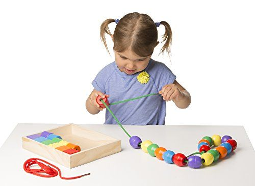 Educational Toys Autistic : Primary lacing beads melissa and doug
