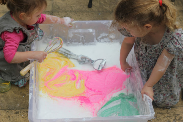 sensory messy play ideas