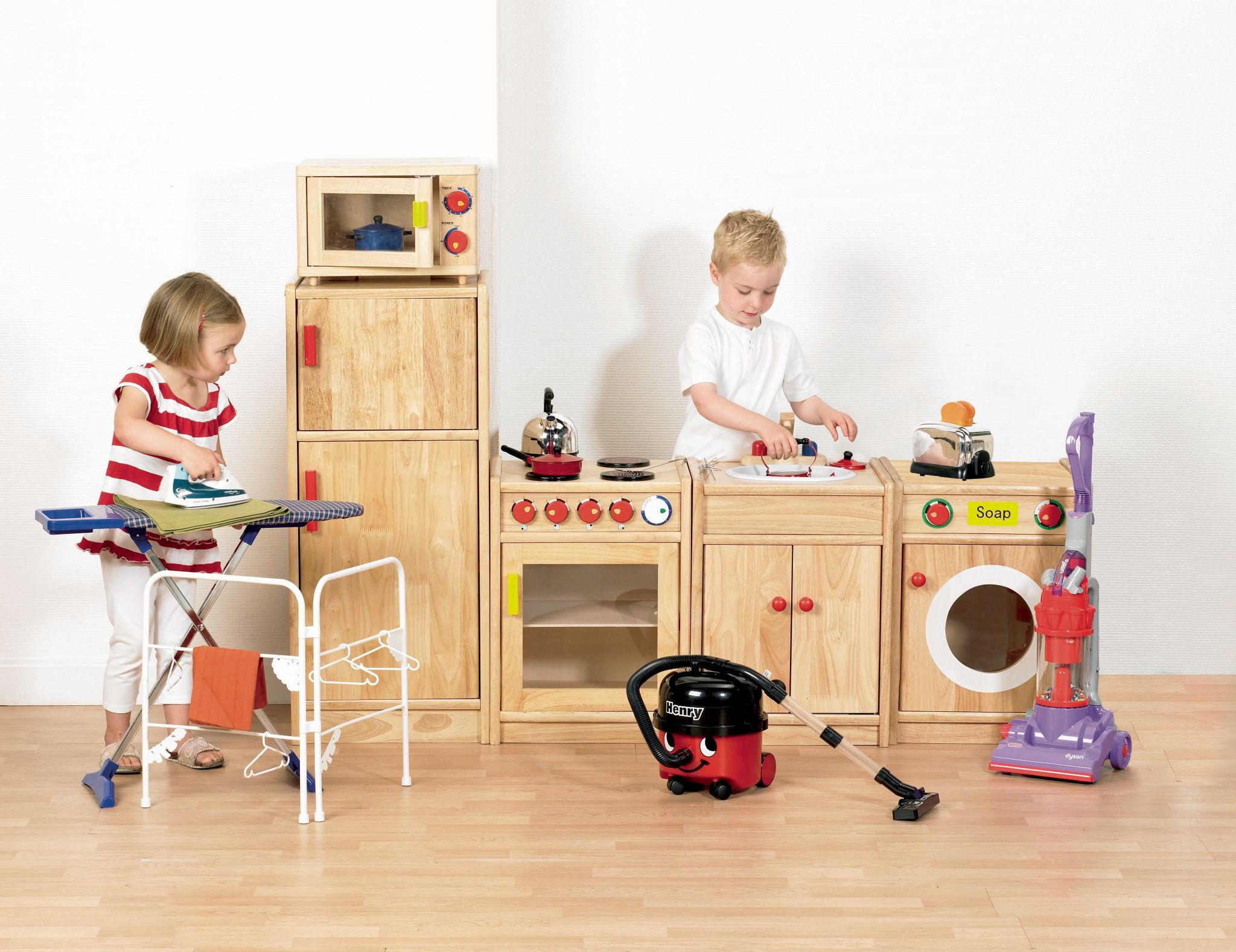 5 Piece Solid Hardwood Kitchen Pretend Play Kitchen Imagintive Play