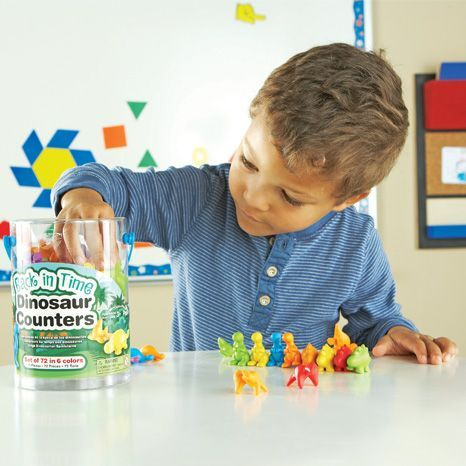 72 Piece Dinosaur Counters,Dinosaur Counters,Back In Time Dinosaur ...