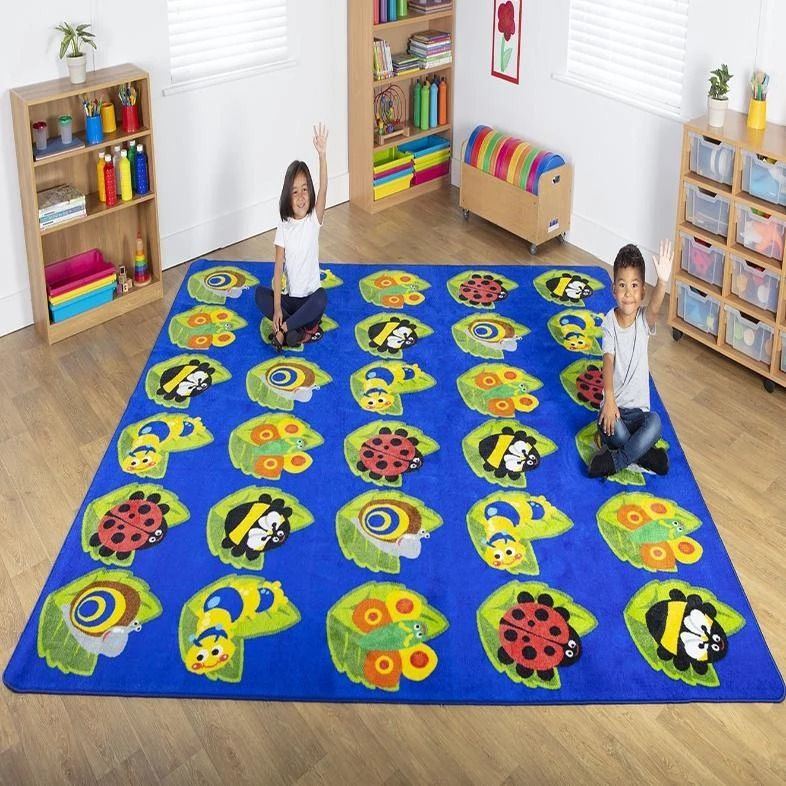 Back To Nature Square Bug Placement Carpet Special Needs