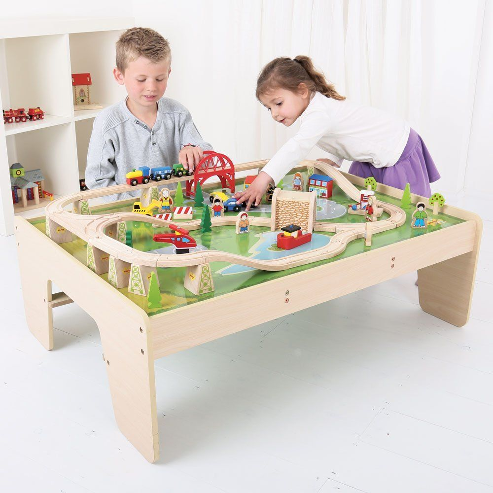 Bigjigs Services Train Set And Table Train Set And Table