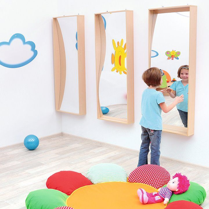 Childrens Wall Mounted Wave Mirror