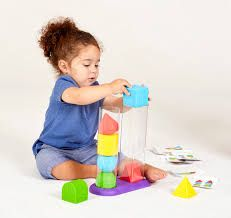 Edushape Geostacker,Develops cognitive and motor skills,sensory toys,baby sensory toys,Baby stacking toys,toddler stacking toy