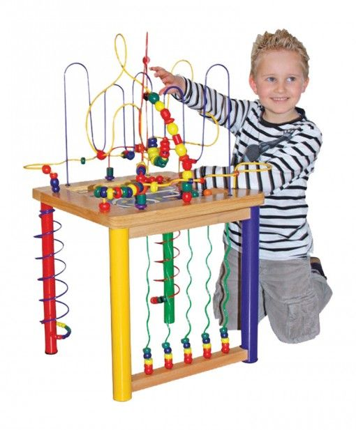 Activity Cube Toy : Large motor skills table bead activity frame