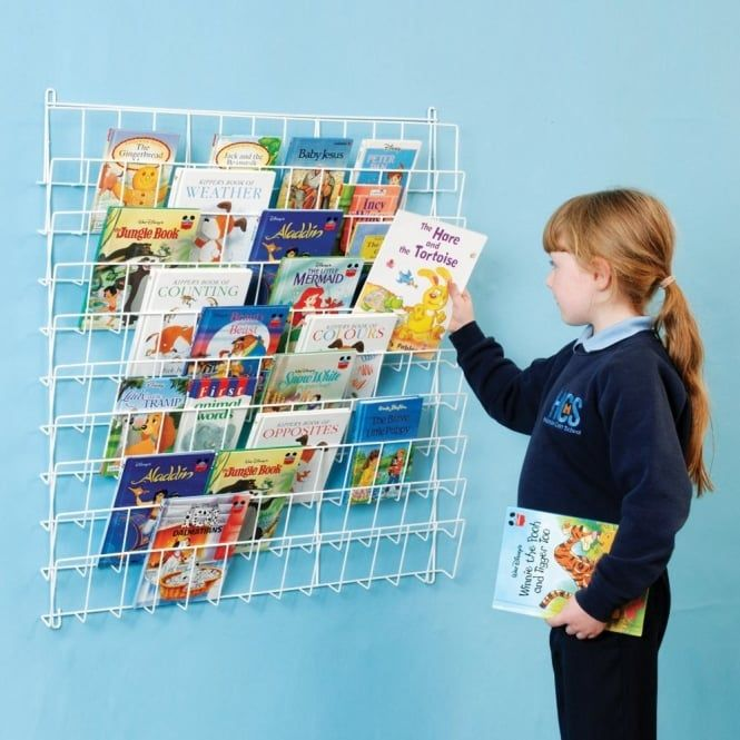 Square Wall Hung Book Rack,Square wall book rack,wall mounted wire ...